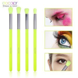 DoColor 4pc Makeup Brush Set...Color: Neon Yellow
